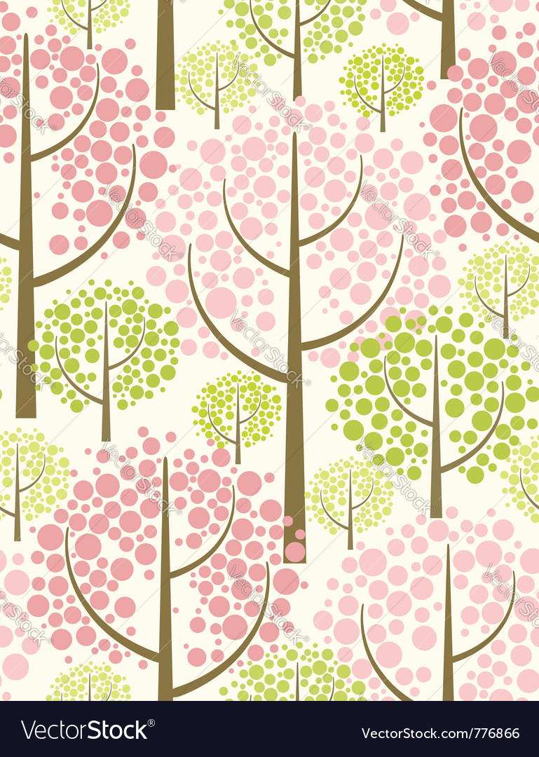 Spring forest  seamless pattern vector