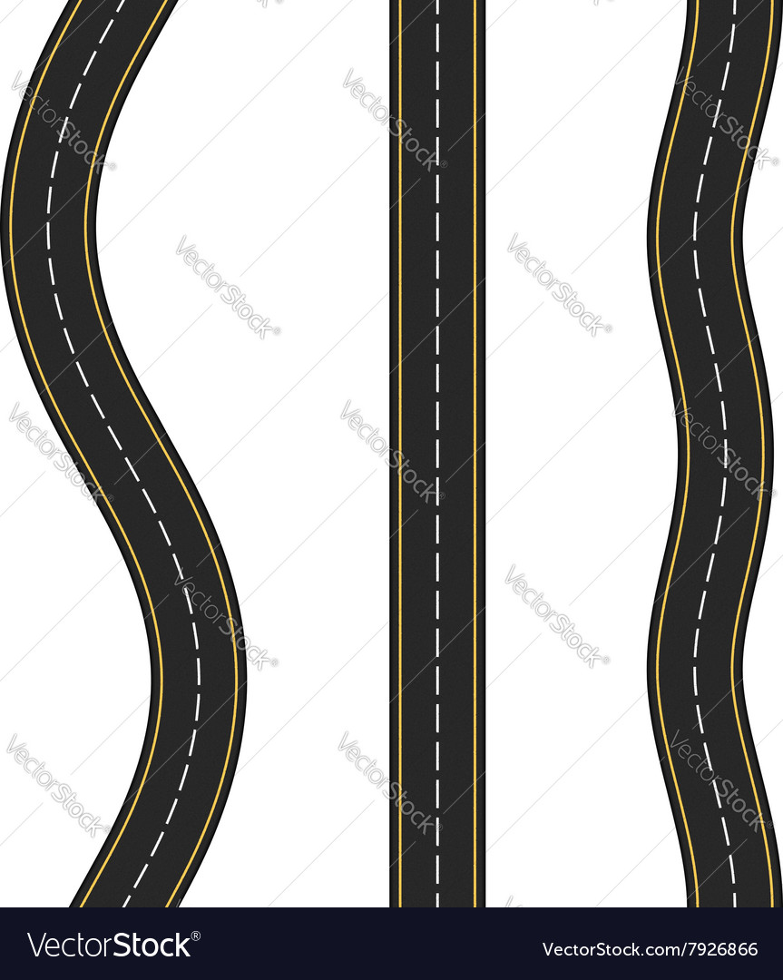 Vertcal seamless roads vector