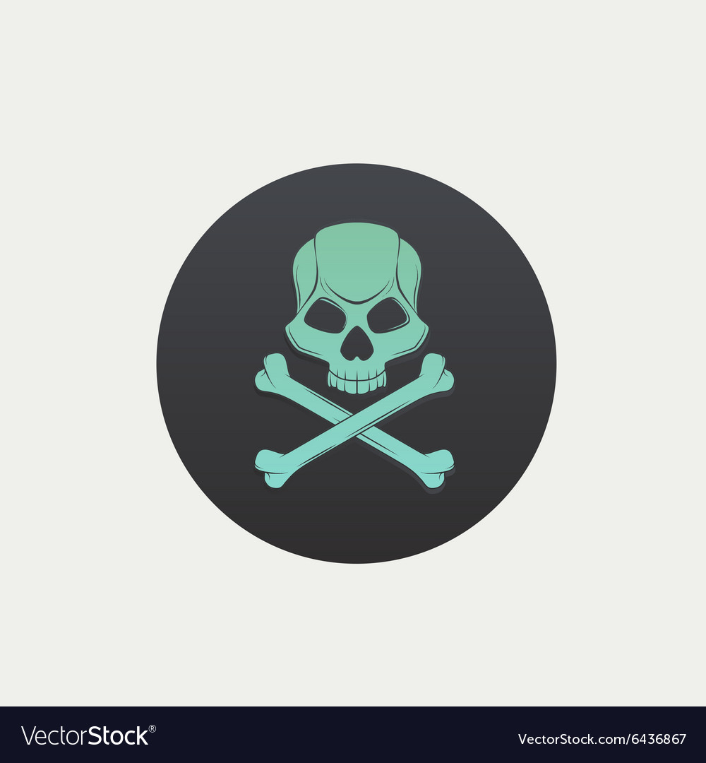 Skull and crossbones black spot vector