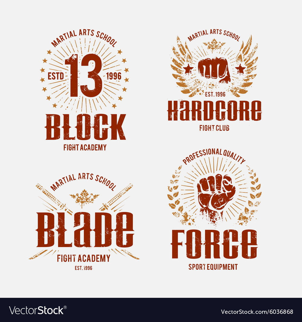 Fight club emblems vector