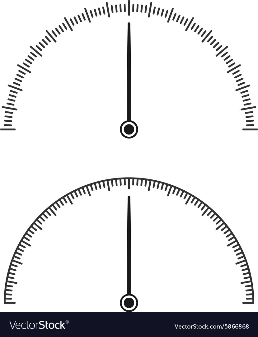 Icon of speedometer vector