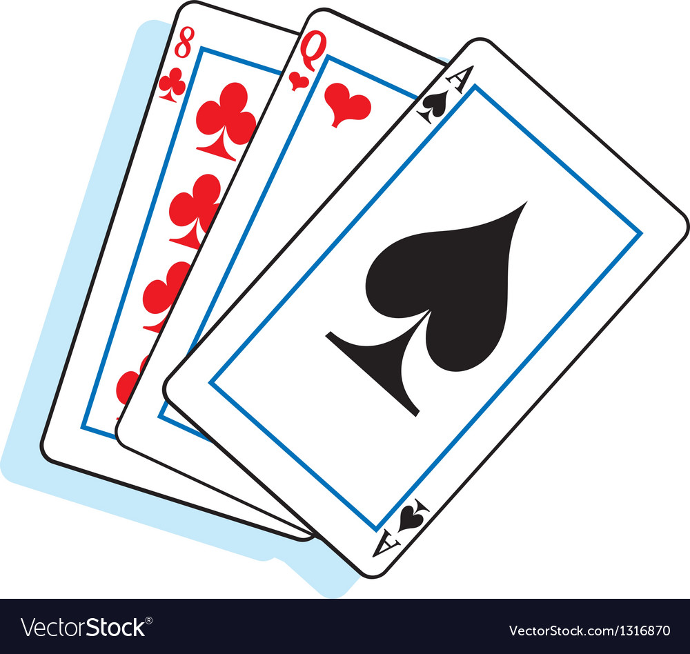 Cartoon playing cards vector