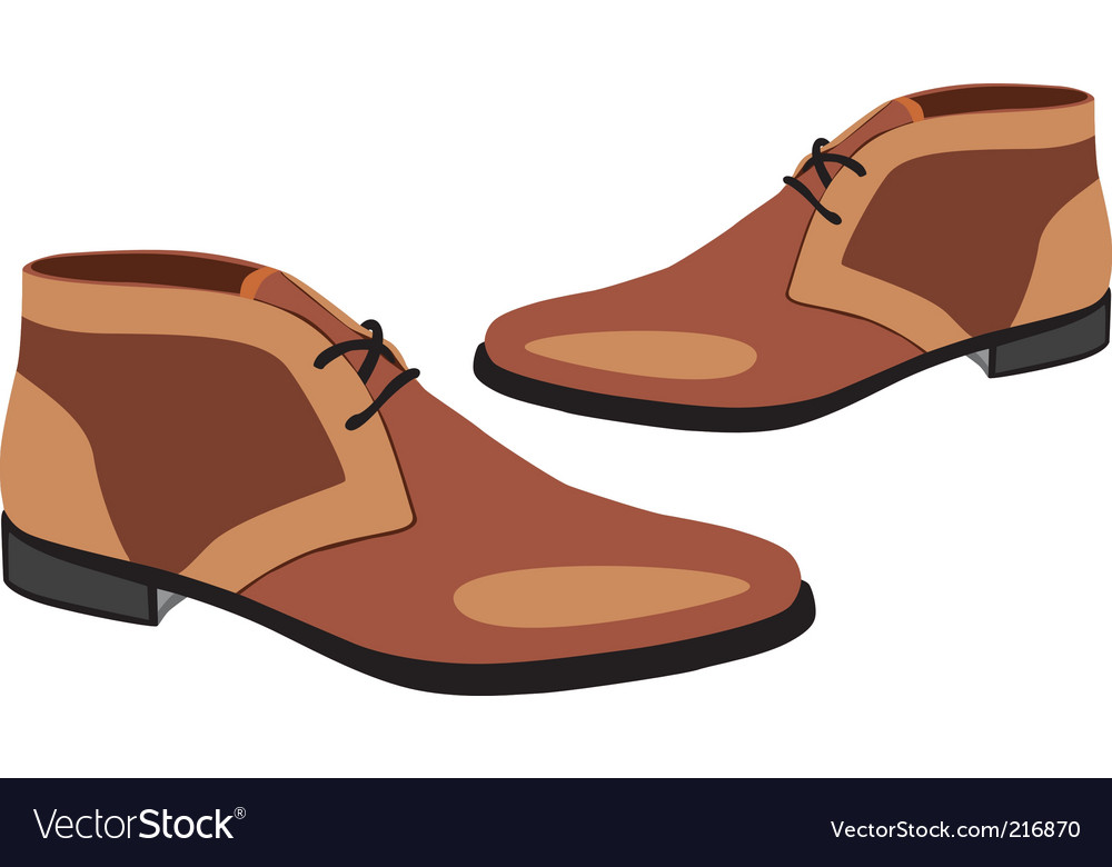 Of men pair shoes vector