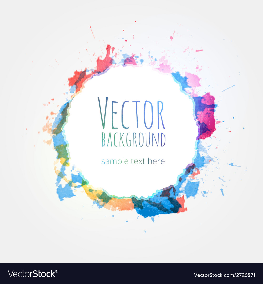 Watercolor colorful background design hand drawn vector
