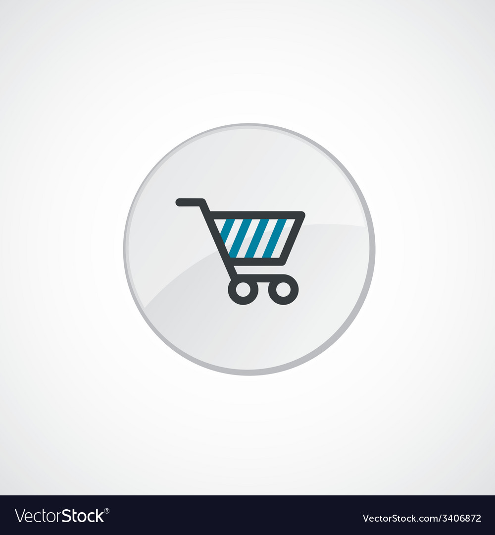 Shopping cart icon 2 colored vector