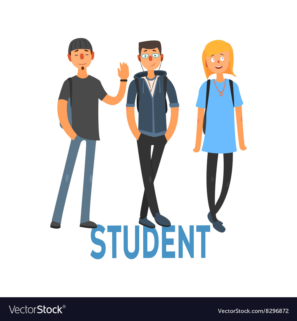 Student people set 3 vector