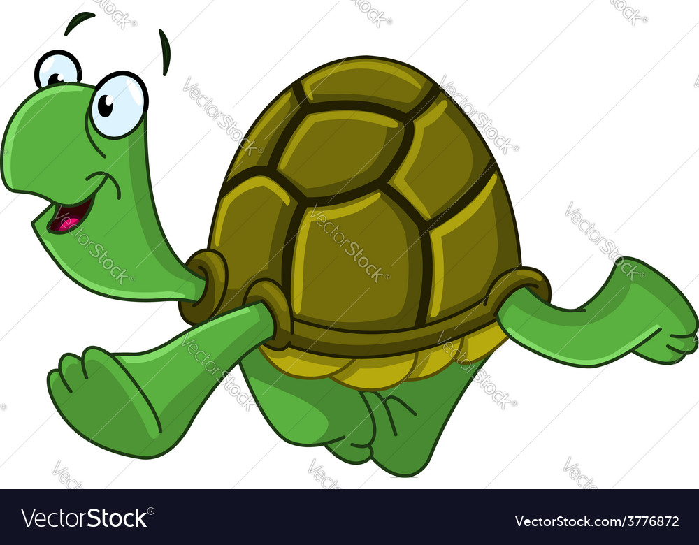 Walking turtle vector