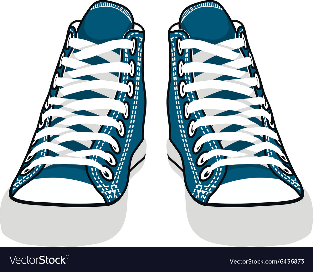 Isolated cartoon blue sneakers vector
