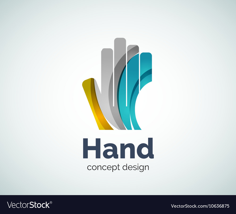 Hand logo template vector