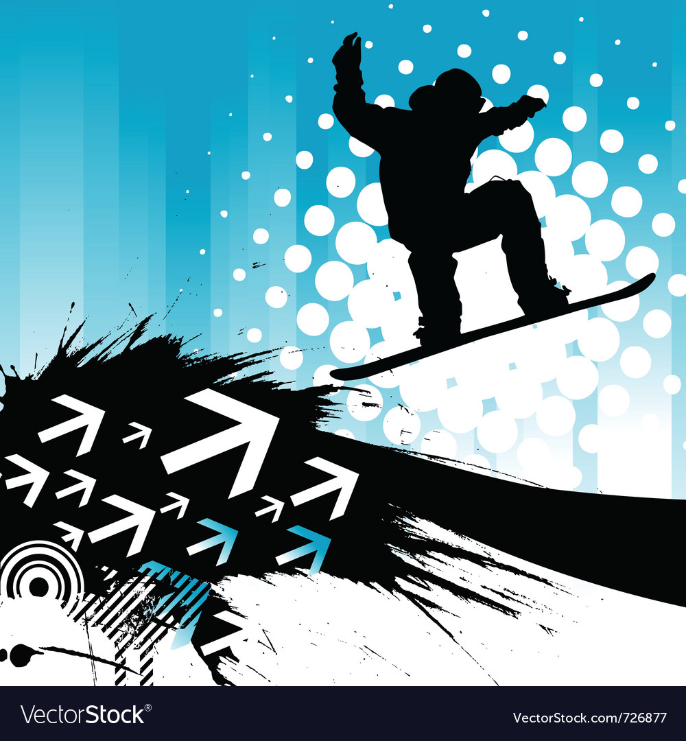 Snowboarding background vector