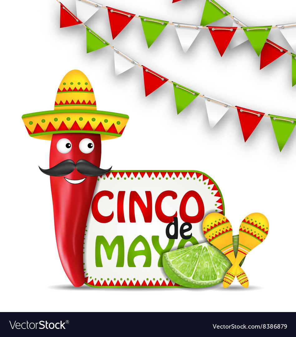 Holiday celebration background for cinco de mayo vector