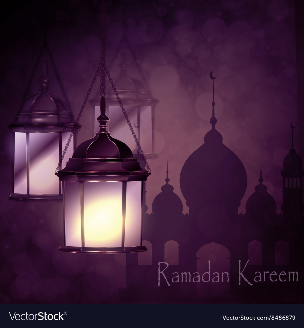 Ramadan kareem greeting background vector