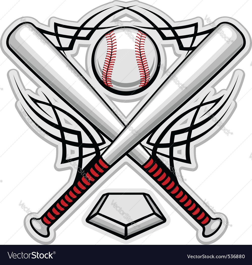 Baseball emblem for sports design or mascot vector