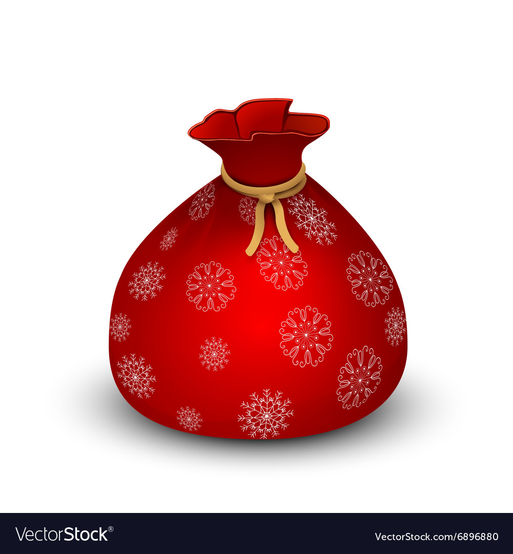 Santa sack on white background vector