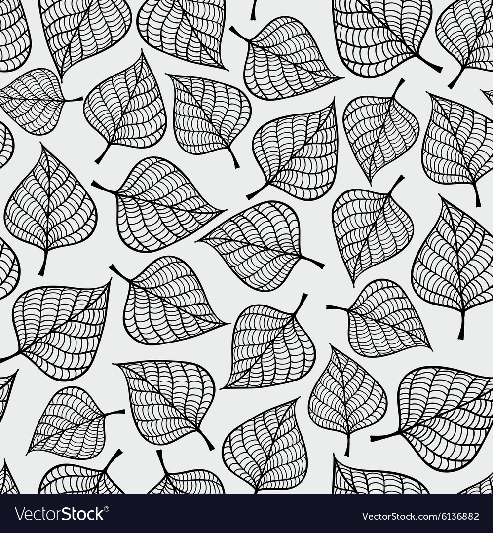 Decorative seamless black and white pattern with vector