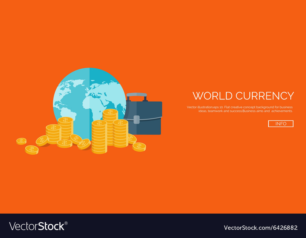 Flat header money and money vector