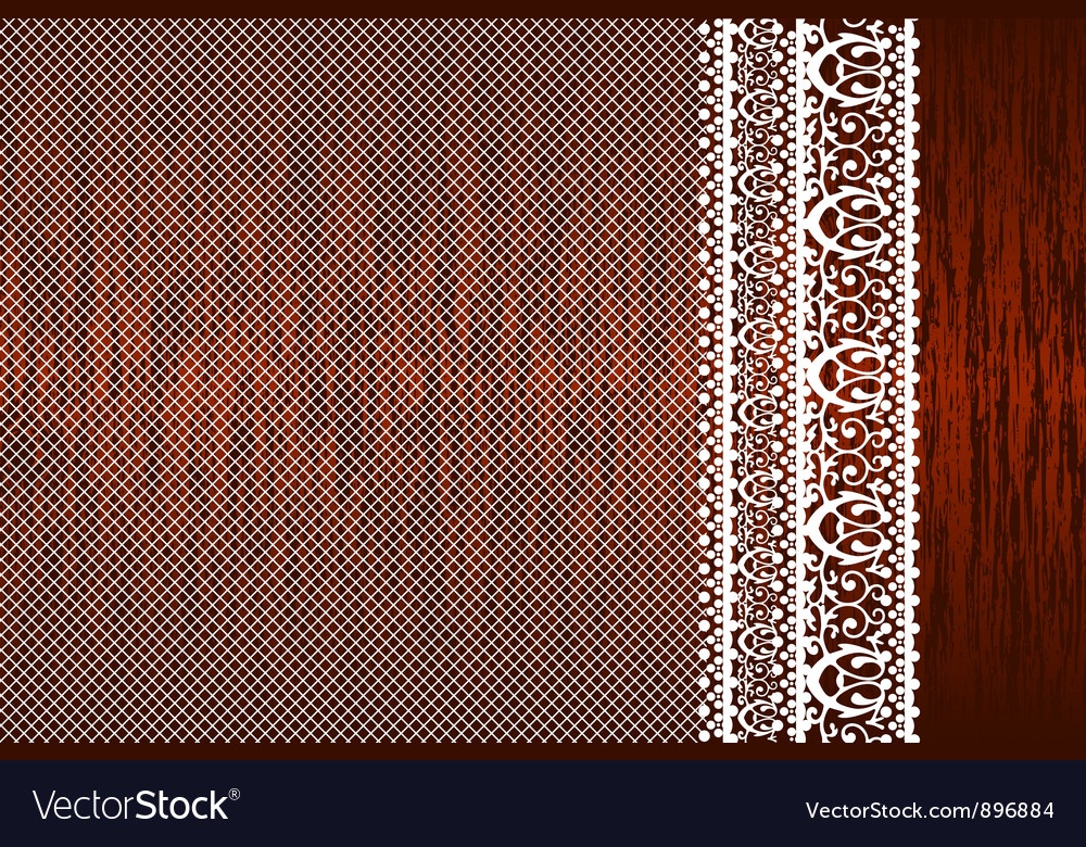 Lace background side vector