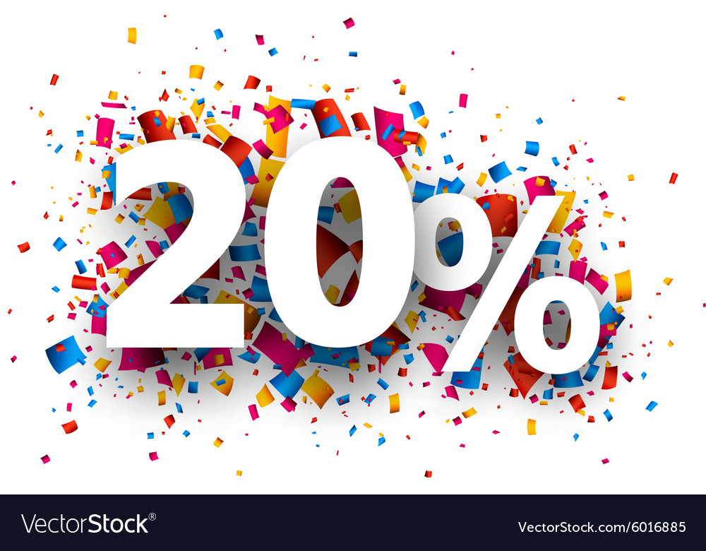 20 sale sign vector