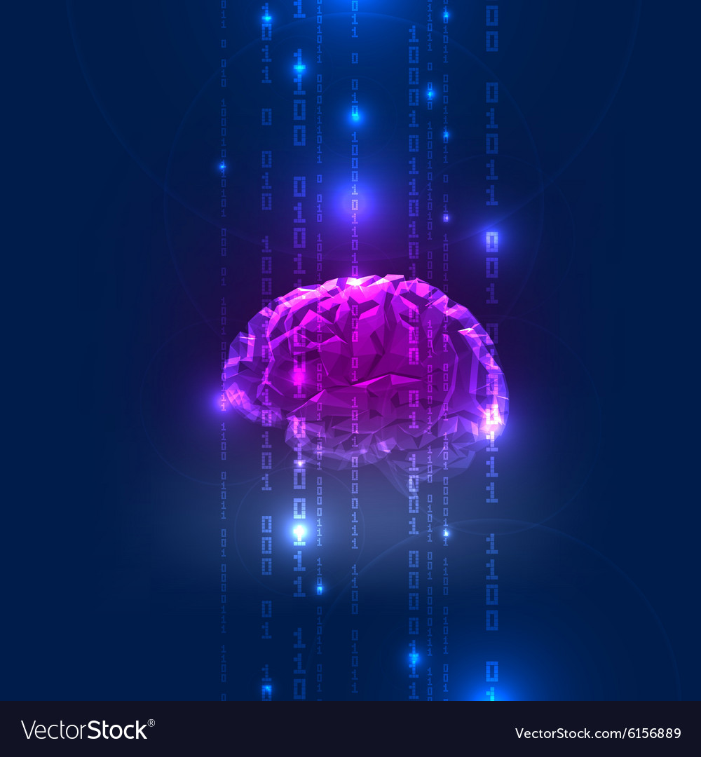 Abstract activity of human brain with binary code vector