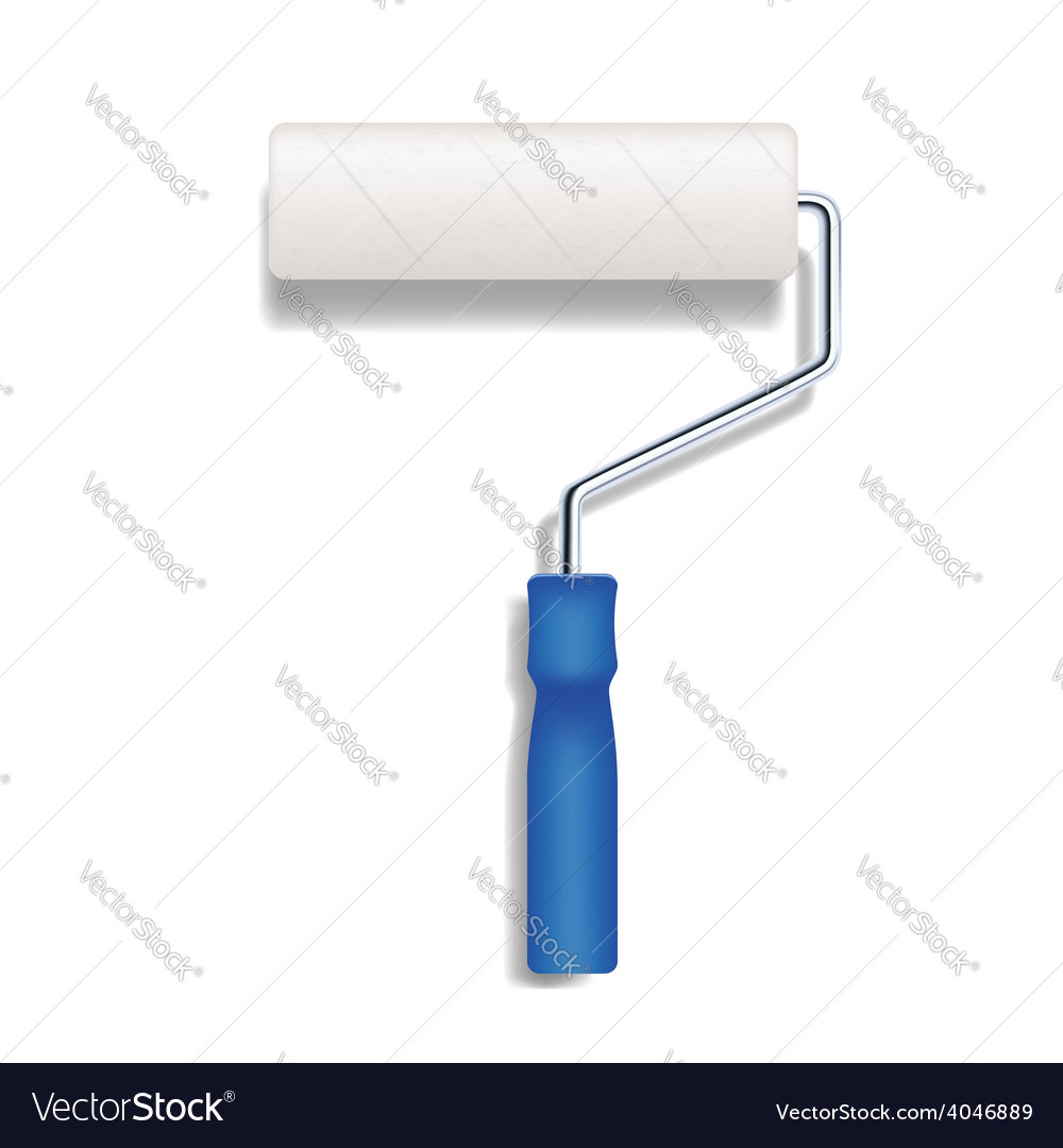 Realistic paint roller vector
