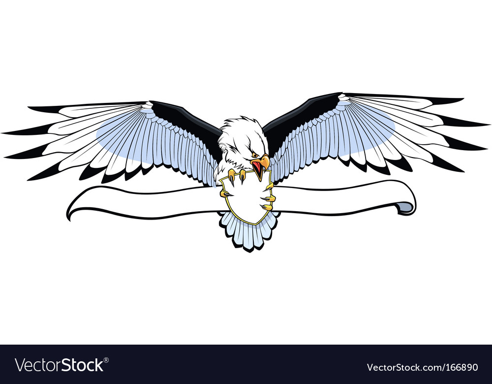 Eagle with banner vector