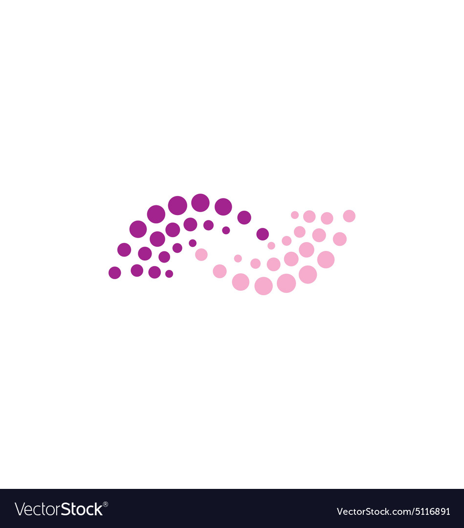 Dot abstract balance logo vector