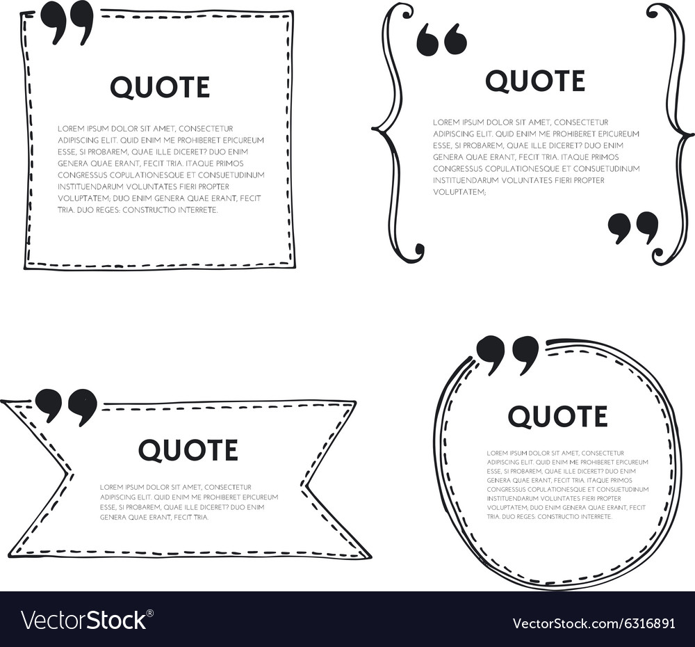 Quote text bubble vector