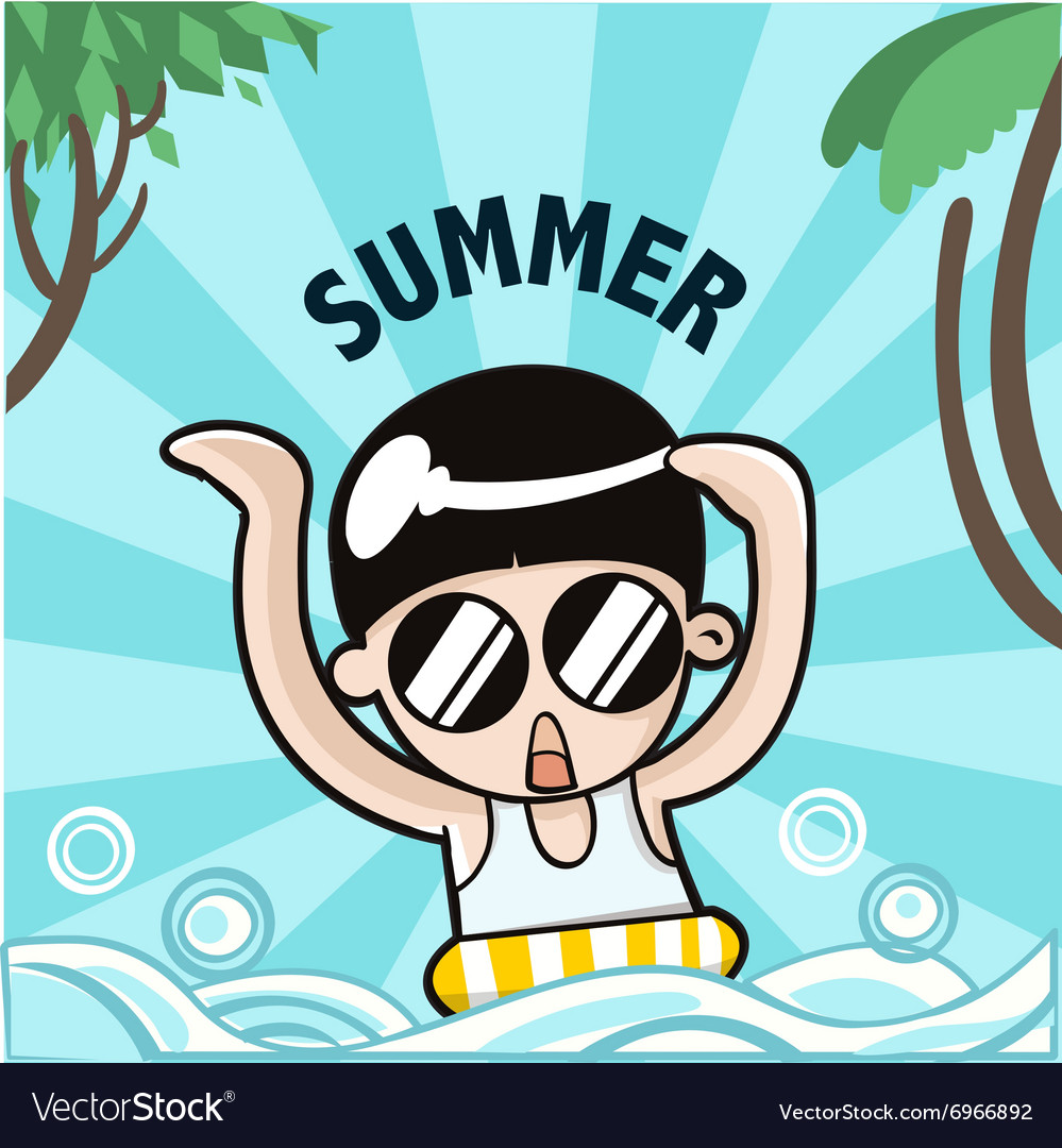 Summer boy vector