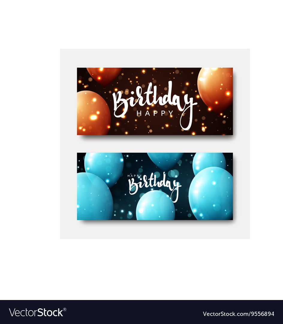 Happy birthday calligraphic inscription with vector