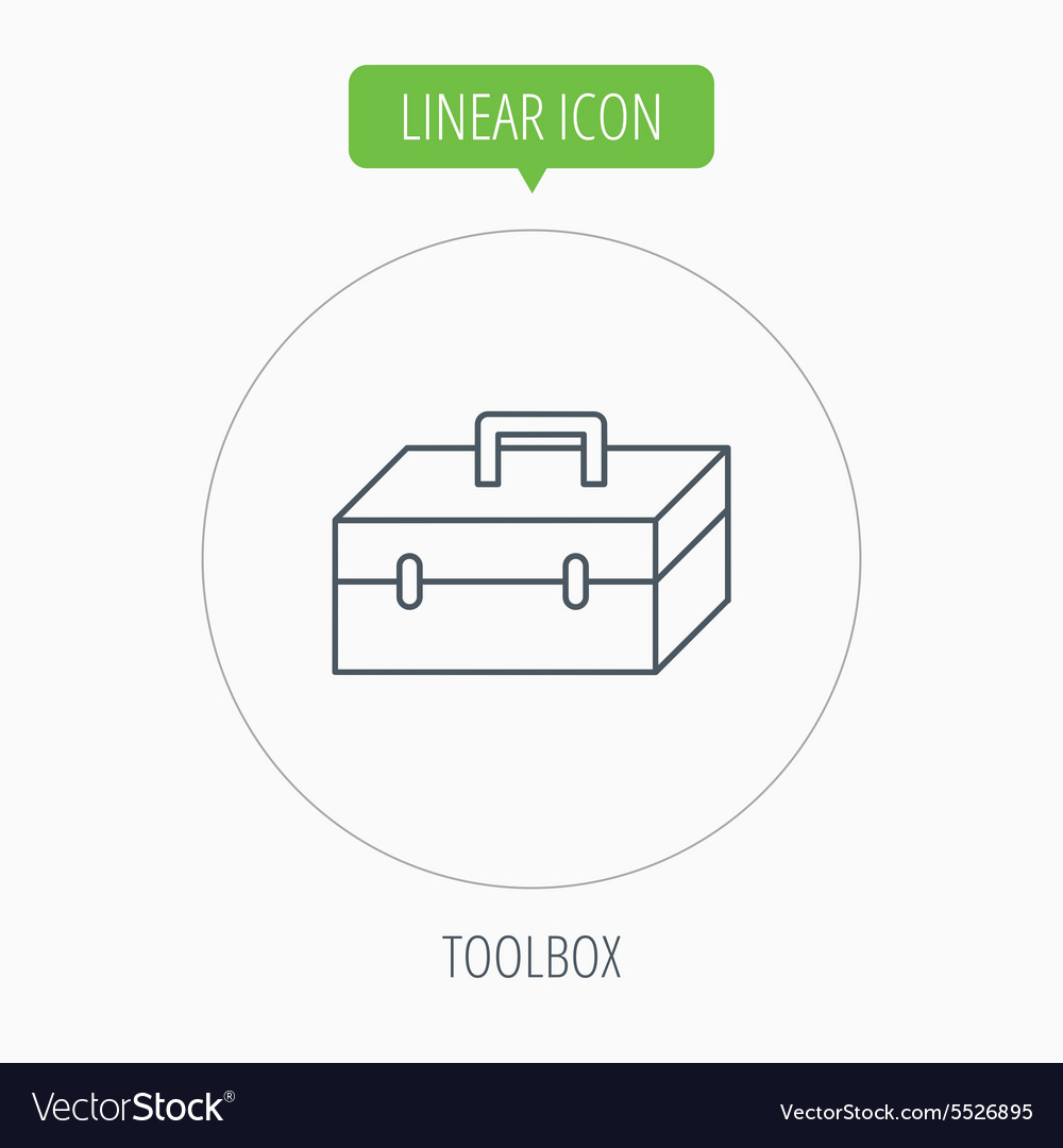 Toolbox icon repair instruments sign vector