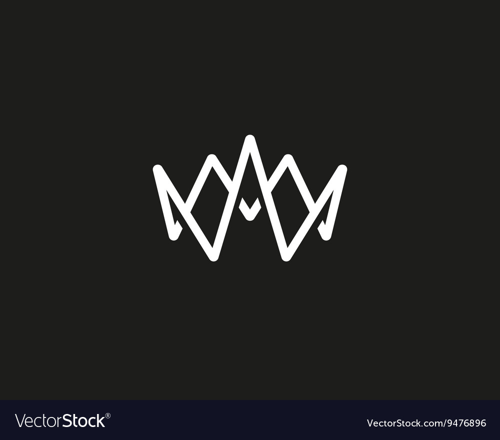 Abstract crown logo design template water vector