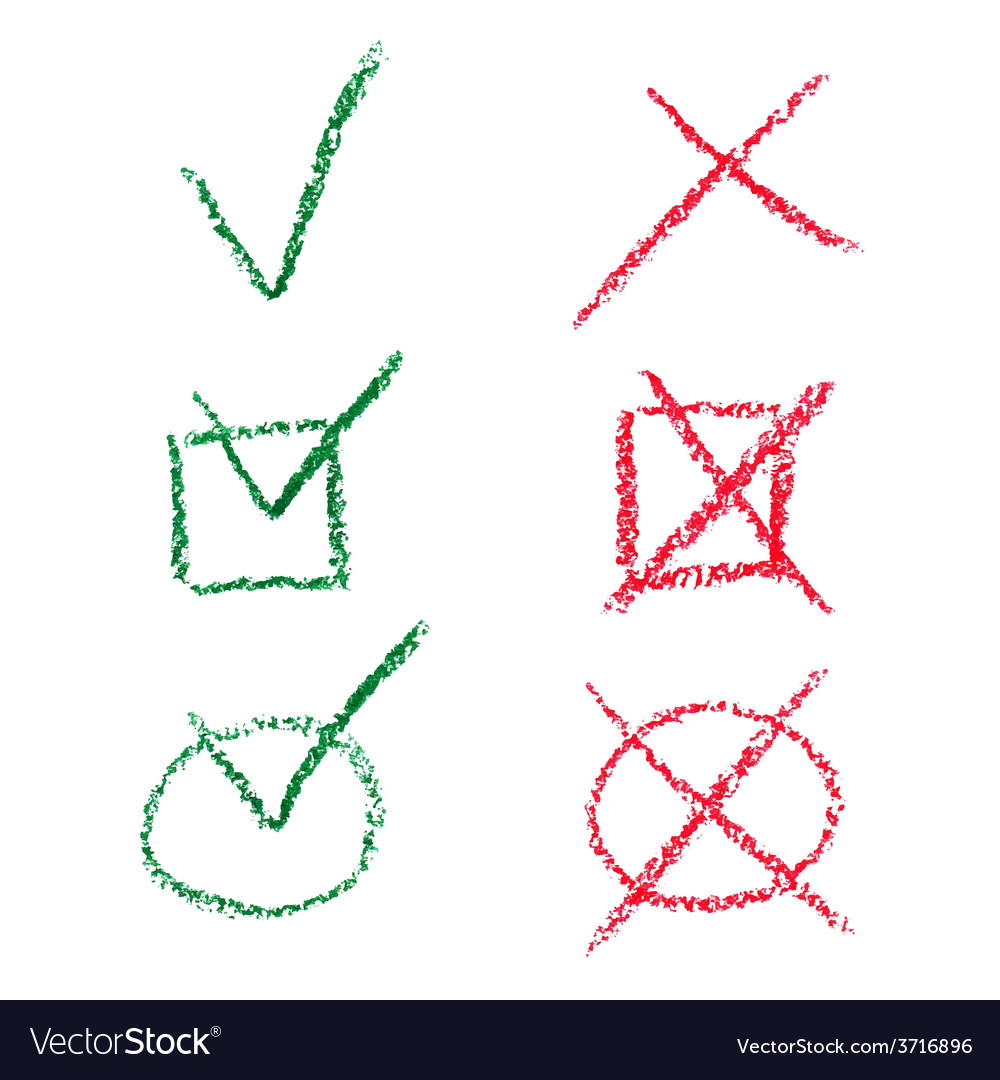 Check mark set vector