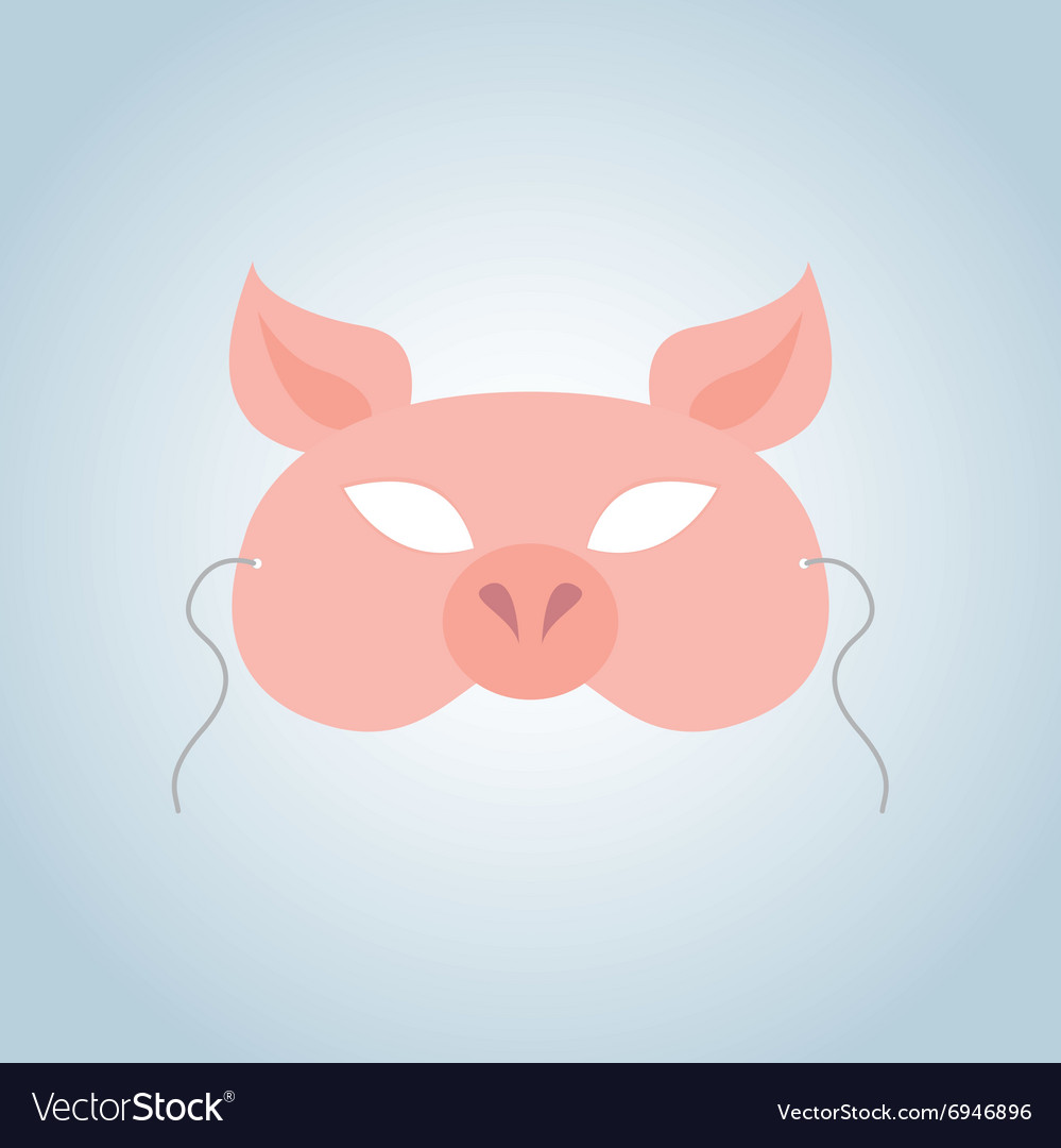 Pig mask vector