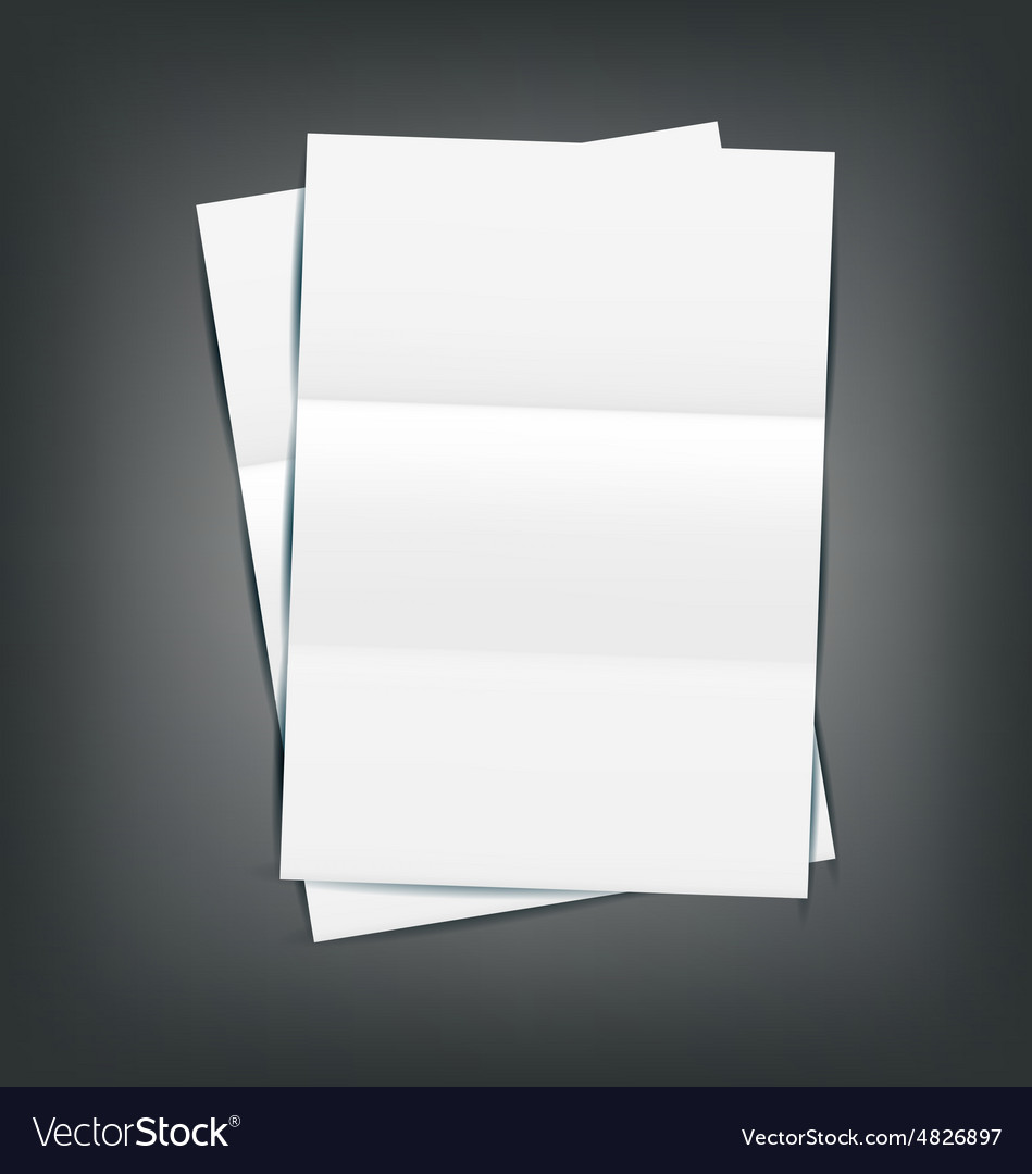 Two empty paper sheet vector