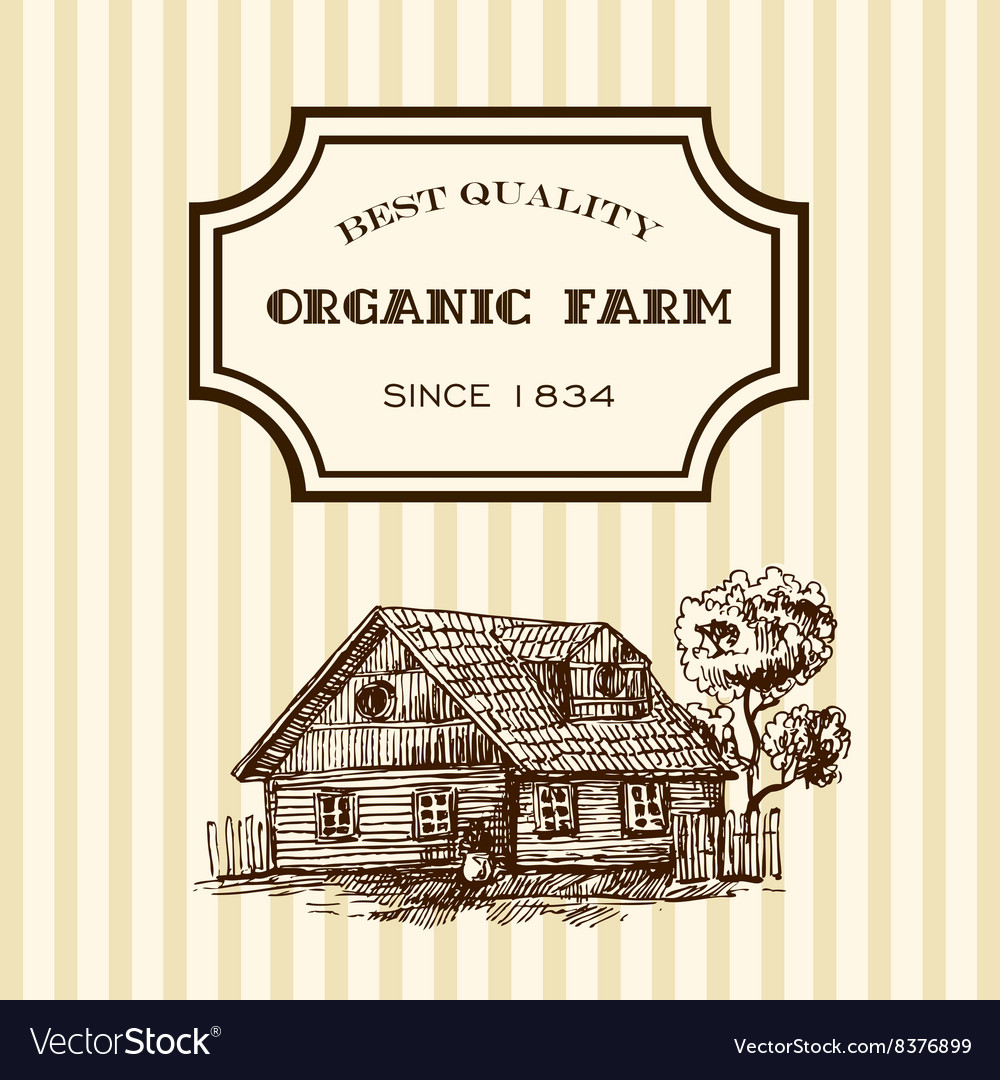 Eco farm sketch vector