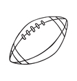 Rugby and American football ball Outlined vector image