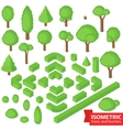 Isometric trees hedge and bushes vector image