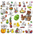 easter characters cartoon set vector image