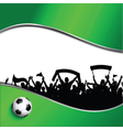 Football or soccer crowd background vector image