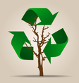 Think green Ecology concept Tree with Recycle vector image vector image