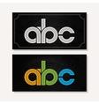 letter A B C logo alphabet chalk icon set vector image