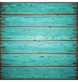 Aquamarine Old Wooden Painted Wall vector image vector image