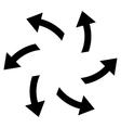 Centrifugal Arrows Flat Icon vector image