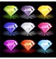 Cartoon bright colorful diamonds vector image