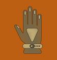 flat shading style icon glove vector image