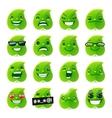 Funny Leaf Emojis vector image