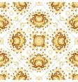 Golden flowers on white background vector image