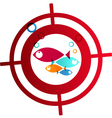 Hunter fish logo Abstract Background vector image