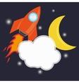 rocket space ship icon vector image