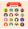 set of farm or domestic animals icons vector image